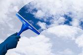 Hand Cleaning Sky — Foto de Stock