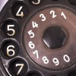 Stock Photo: Rotary Dial of Vintage Phone