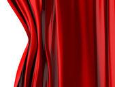 Красный занавес открытие — Стоковое фото