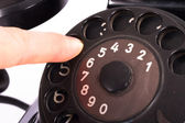 çevirmeli bir vintage telefon — Stok fotoğraf
