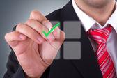 Businessman with Digital Screen — Stock Photo