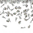 Dollar Banknotes Flying and Raining — Stock Photo #45237121
