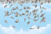 Dollar Banknotes Falling — Stock Photo