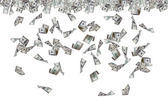 Dollar Banknotes Flying and Raining — Stock Photo