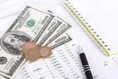 Financial Charts and Graphs on Business Table — Foto Stock