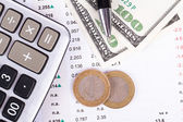 Financial Concept on Business Table — Stock Photo