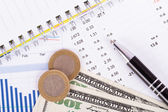 Financial Data Results — Zdjęcie stockowe