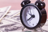 Alarm Clock and Banknotes — Foto Stock