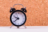 Alarm Clock on White Ground — Foto Stock