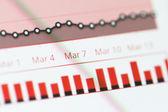 Graph Chart on Monitor Screen — Stock Photo