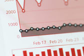 Graph Chart on Monitor Screen — Stock Photo