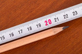 Pencil and Ruler — Stockfoto