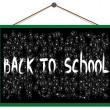 Back to school on the blackboard — Stock Vector