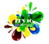 Colorful vector bubbles design — Stock Vector