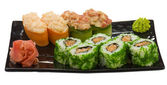 Japanese food, sushi, rolls, — Photo
