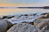 Floe on the lake near the shore — Stock Photo