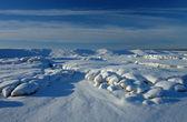 Winter, snow drifts, background — Stock Photo