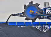 Harvester for coal mining — Stock Photo