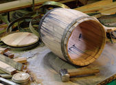 Manufacture and production of barrels — Stock Photo
