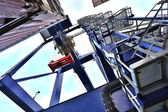 Cargo cranes in the port — Stock Photo