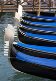 Venice, gondolas on the canal — Стоковое фото