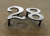 House number on the wall — Stock Photo