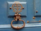 Lås och dörr handtag — Stockfoto
