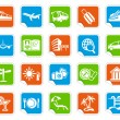 Royalty-Free Stock Vector Image: Travel icons on stickers