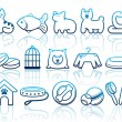 Pets care icon set — Stock Vector #12565080