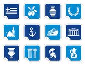 Greece icons — Stock Vector