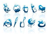 Children's icons — Stock Vector