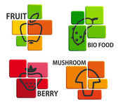 Bio food icons — Stock Vector