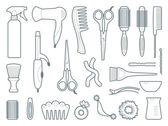 Hairdresser's accessories — Stock Vector