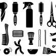 Hairdresser's accessories — Stock Vector