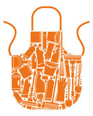 Apron for cleaning — Stock Vector