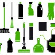 Icons of accessories and means for cleaning — Stock Vector #15456687