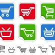 Shopping cart and basket icons — Stock Vector #16281053
