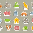 Pets care icon set — Stock Vector #16281067