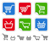 Shopping cart and basket icons — Stock Vector