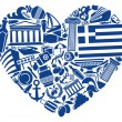 With love to Greece — Stock Vector #20308537