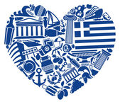 With love to Greece — Stock Vector