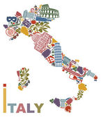 Italy map — Stock Vector