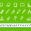 Stationery and office icons — Stock Vector #22045809