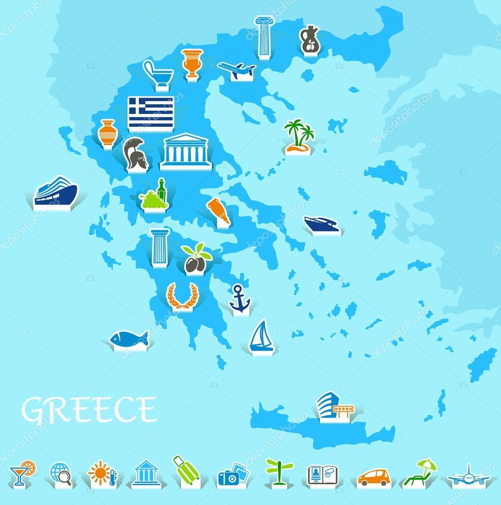 希腊地图 — 图库矢量图像08