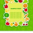 Framework from icons of vegetables and fruit — Stock Vector #23086734