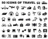 Icons of travel and trips — Stock Vector