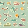 Travel icons on stickers — Stock Vector #30441491