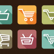 Shopping cart and basket icons — Stock Vector #32134619