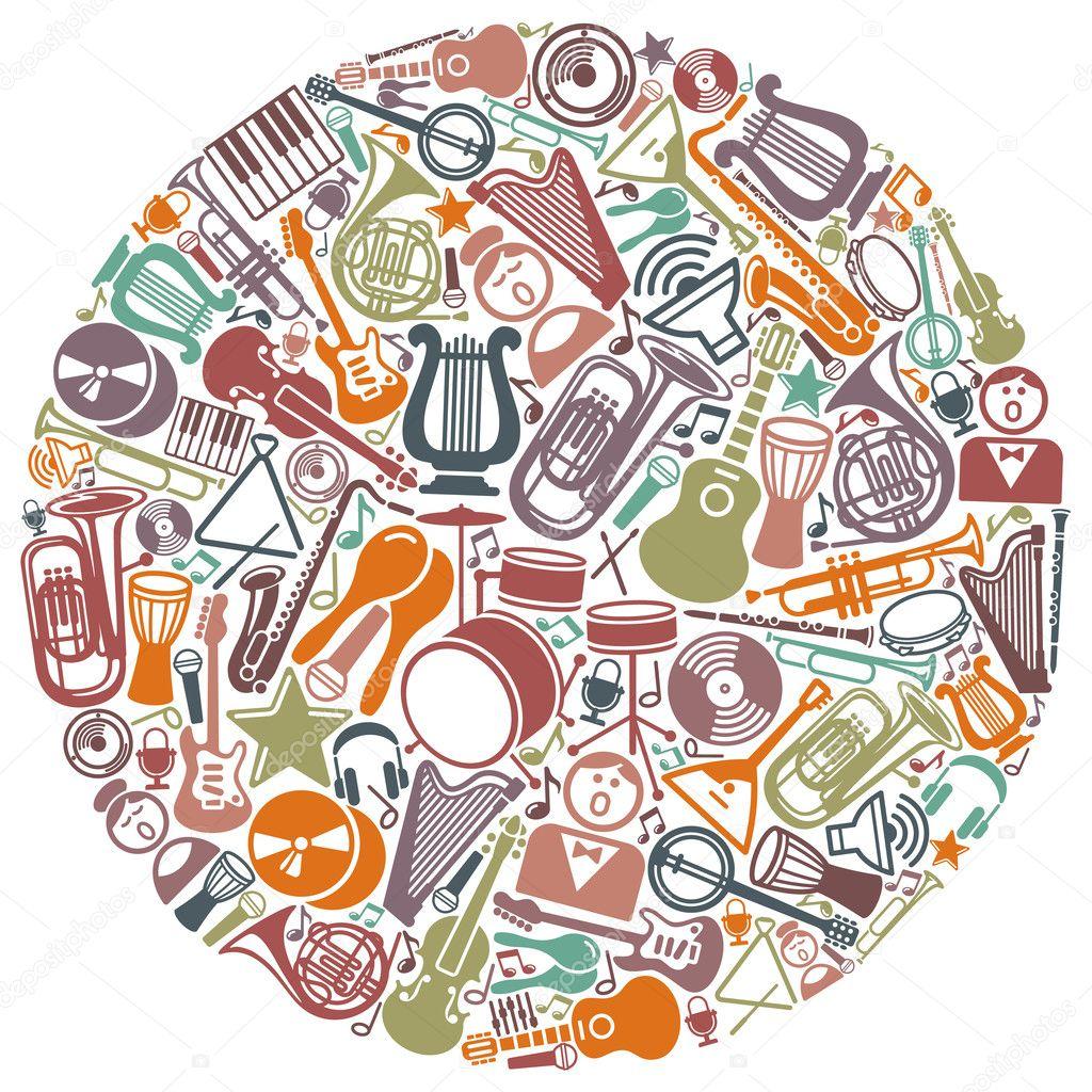 音乐符号图案 矢量图 音乐符号矢量图载 符号矢量图