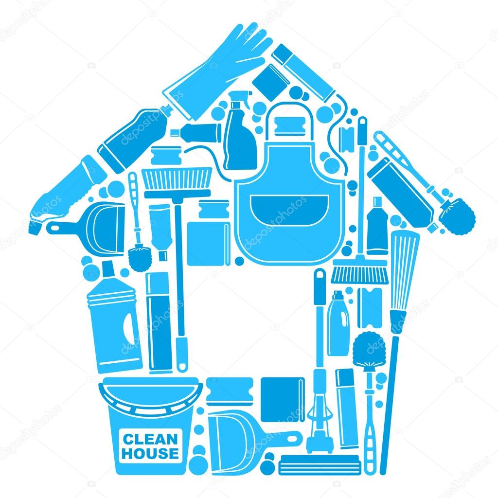 Symbols of a clean house stock vector abdurahman 40422719 for House cleaning stock photos